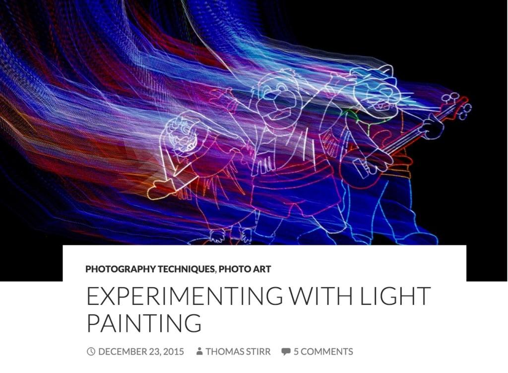 Light-painting with the Nikon 1 series by Thomas Stirr