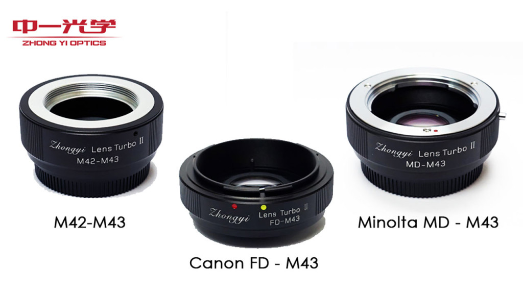 ZY Optics releases three new Lens Turbo adapters for Micro Four Thirds