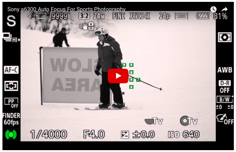 Using the Sony a6300 autofocus for sports with Gary Fong
