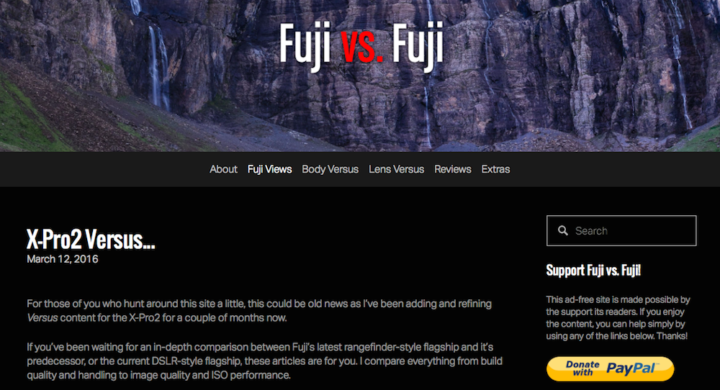 Fujifilm X-Pro2 vs. X-T1 vs. X-Pro1 – FujivsFuji posts two new in-depth comparisons