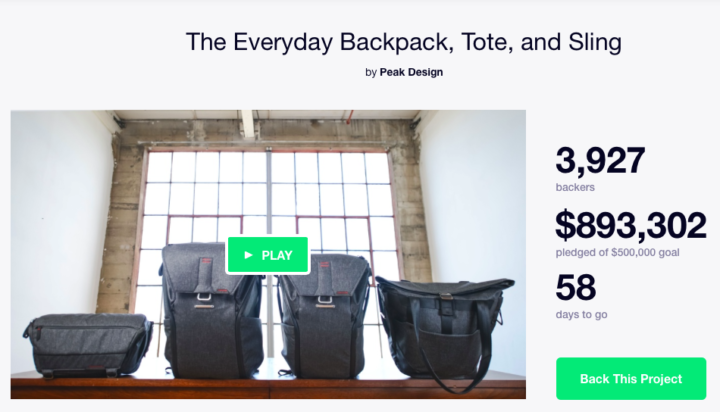 Peak Design announces the Everyday Backpack, Tote and Sling