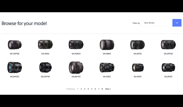 Sony announces firmware update for many FE lenses