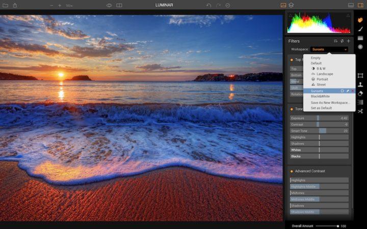 macphun luminar screenshot