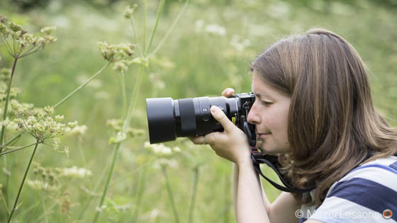 Me using the 90mm macro on an APS-C body