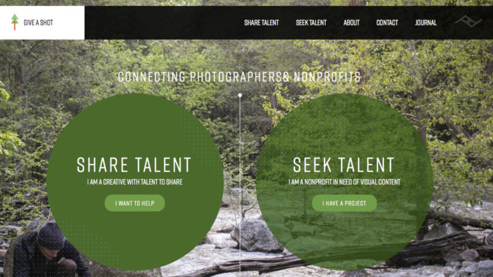 Peak Design's new website 'Give a Shot' connects photographers with environmental non-profits in need of visual content