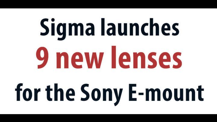sigma sony e mount lenses